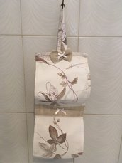 Porta rotoli carta igienica Floreale fiocchetto