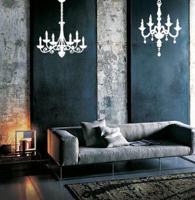 Adesivo murale a forma di lampadario chandelier