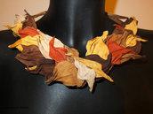 Collana di vera pelle di colori autunnale 1