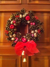 Ghirlanda artistica artigianale natalizia pezzo unico art 2996