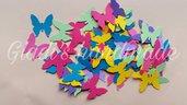 100 coriandoli a forma di farfalla