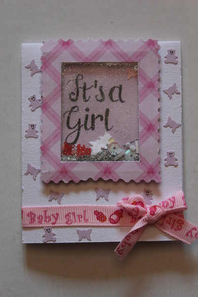 Biglietto Auguri Nascita Shaker - It's a Girl