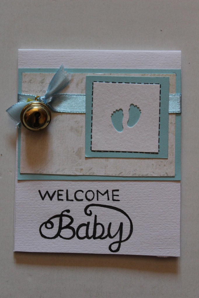 Biglietto Auguri Nascita Bambino - Welcome Baby