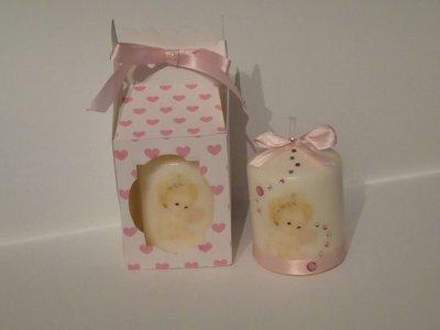 Scatolina scatoline porta candela candele personalizzate matrimonio battesimo