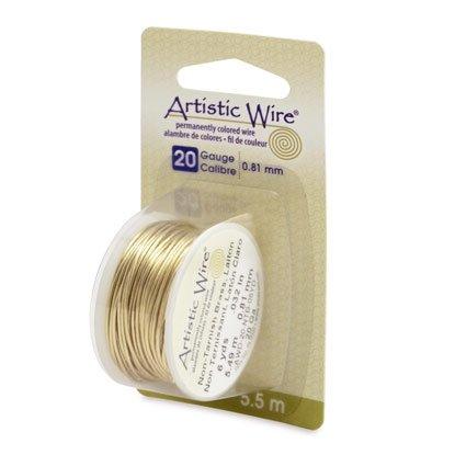 """NOVITA'! Artistic Wire """"Laiton Anti Ternissement""""  (5,5mt) (cod.new)"""