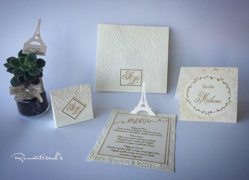 Partecipazioni Matrimonio Firenze.Partecipazione Con Busta Per Matrimonio Modello Firenze By Romanti