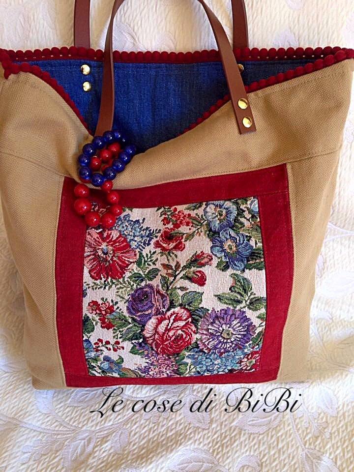 Shopper bag reversibile