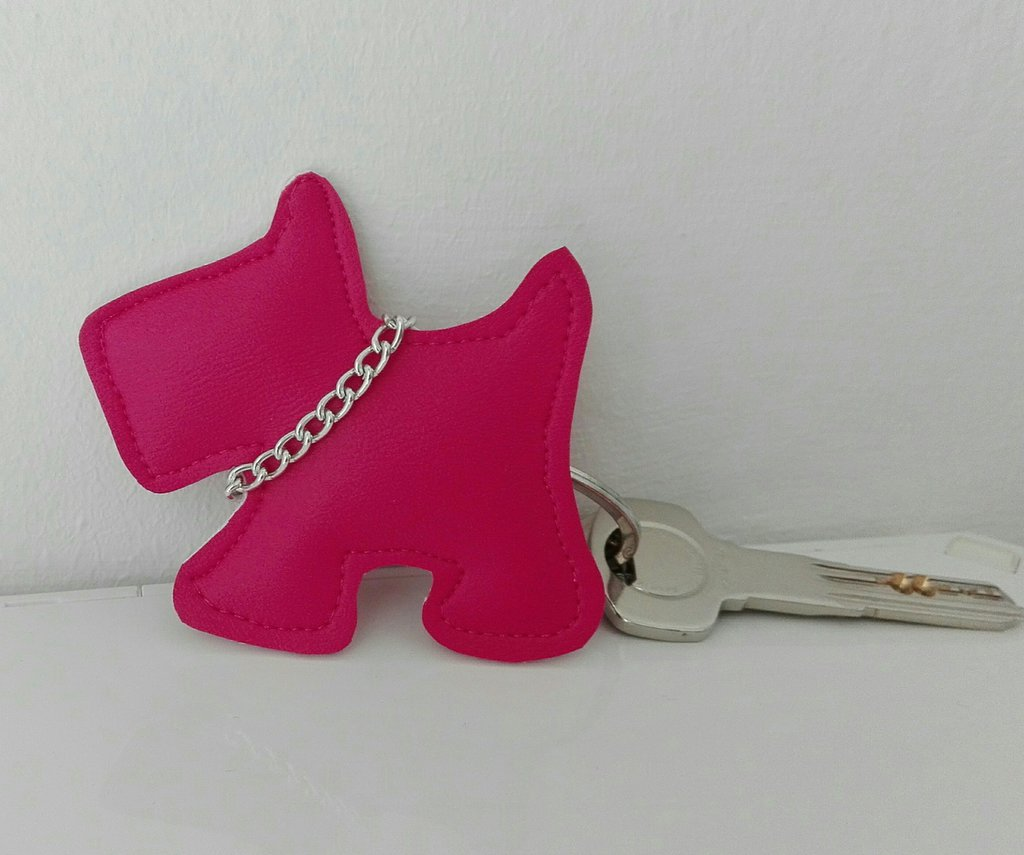 Portachiavi scotty dog similpelle