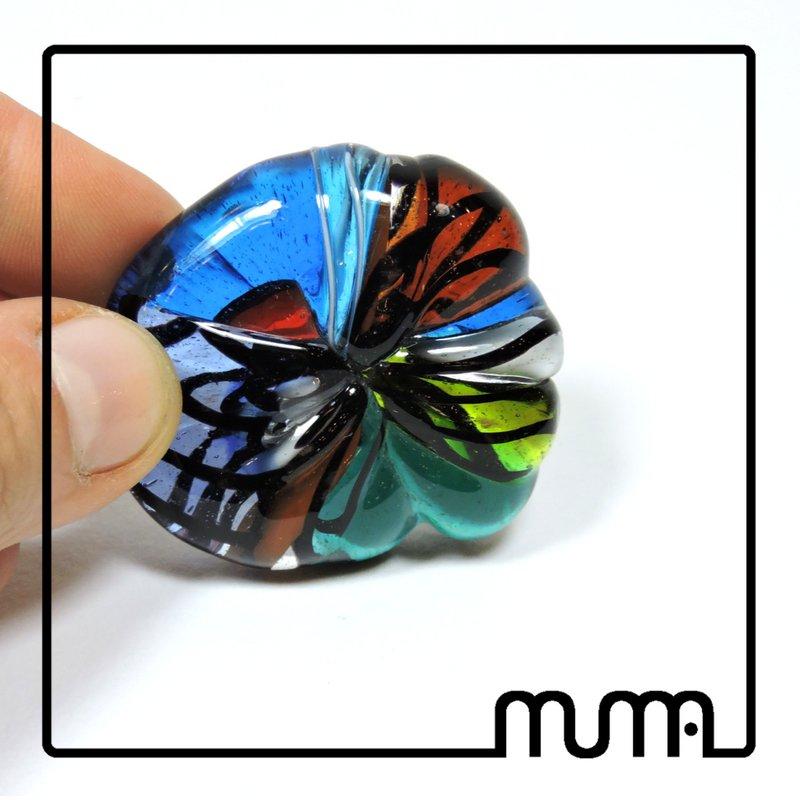 Fiore in vetro artistico, multicolore, fatto a mano
