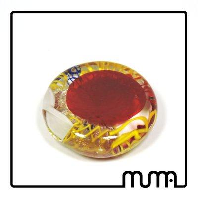 Fermacarte in vetro di Murano, fatto a mano, colorato, idea regalo