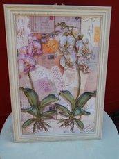 Quadro con orchidee