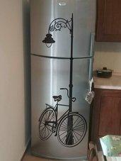 Adesivo decorativo in vinile Bicicletta con lampione
