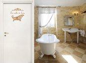 Adesivo decorativo per bagno Salle de bain con vaschetta