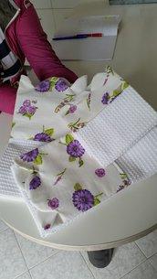 Set asciugamani bordati