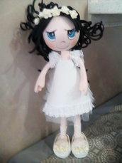 bambola per comunione o nascita