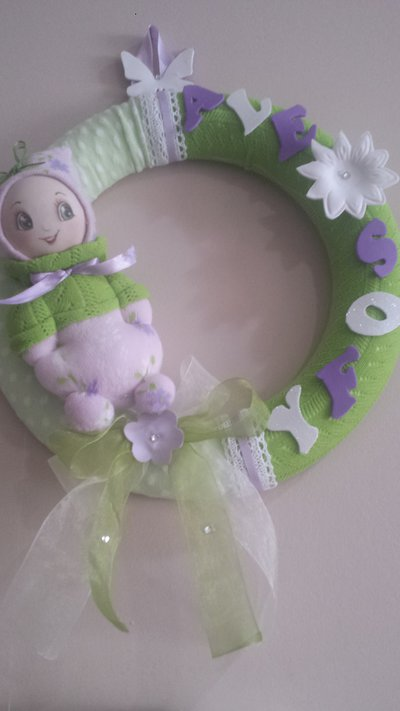 ghirlanda personalizzabile con bambola
