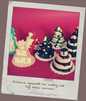 Segnaposto matrimonio mini cake in porcellana fredda