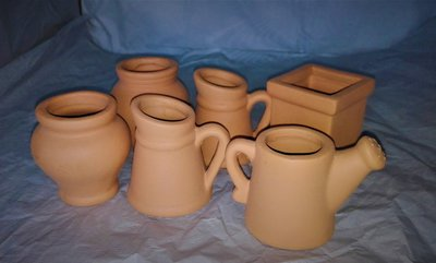 Set di vasetti in terracotta