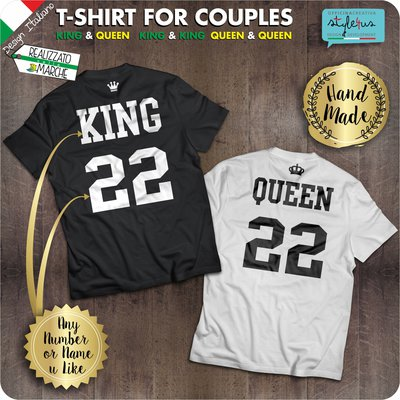 Coppia di t-shirt  King & Queen