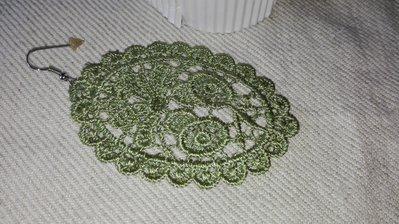 Orecchini colore Verde Oliva