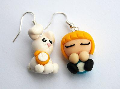 Orecchini Alice e Bianconiglio