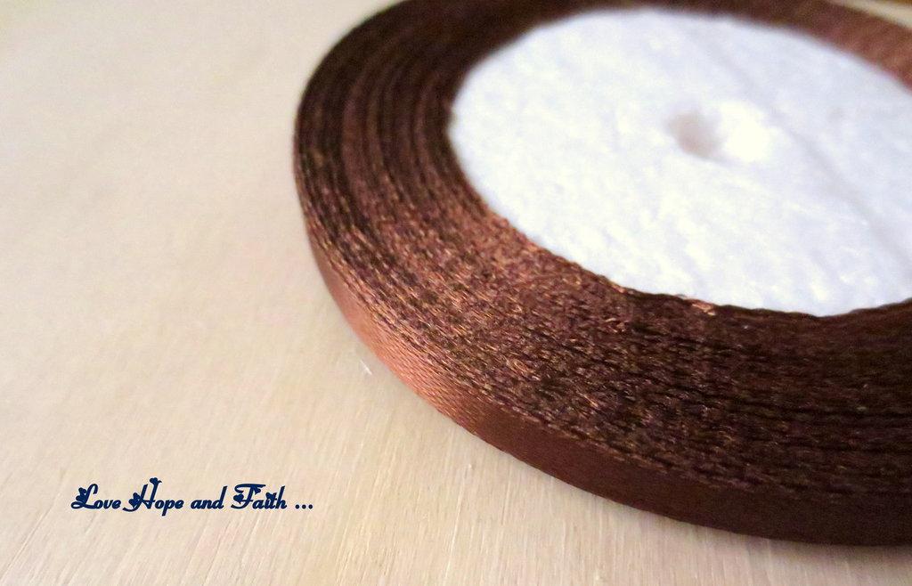 """Nastro simil raso """"Cioccolato"""" (cod.new)"""