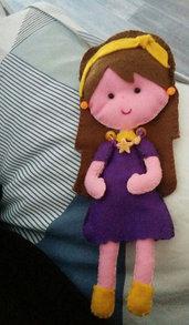 Bambolina in pannolenci personalizzata