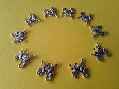 10 charms ciondoli 'Cavallini' argento tibetano