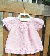 Abito/vestitino bambina 100% cotone rosa