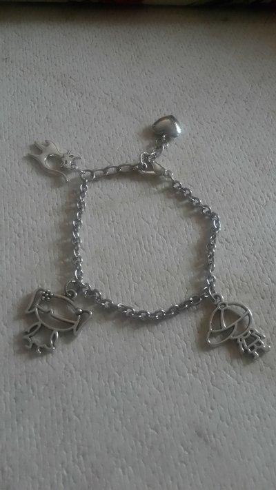 braccialetto con ciondoli con gatti