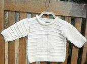 Maglioncino 100% cotone bianco