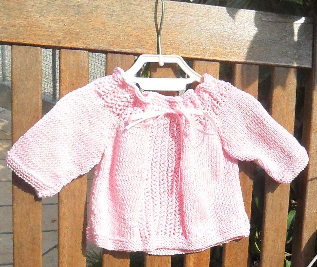 Coprifasce/maglioncino bambina 100% cotone rosa
