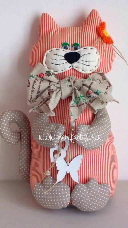 gatto fermaporta di stoffa