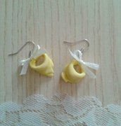Orecchini tortellini in fimo idea regalo originale