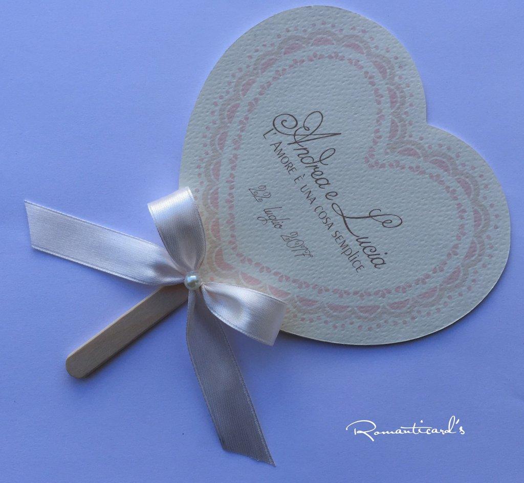 Ventaglio personalizzato per Cerimonie by Romanticards