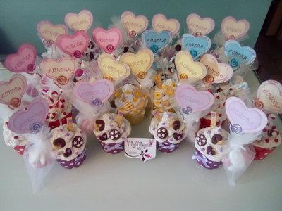 Bomboniere cupcakes colorati