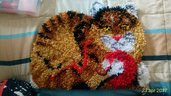 Tappeto gattino lana