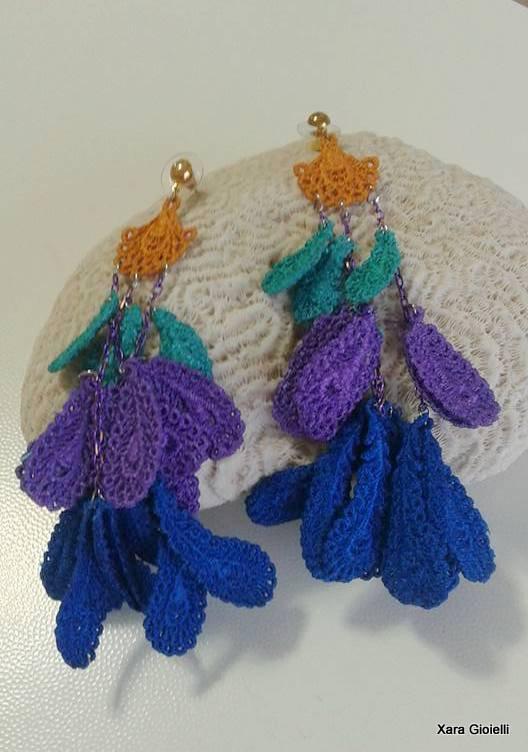 Inserzione privata per Agata Orecchini pendenti Peacockcolour