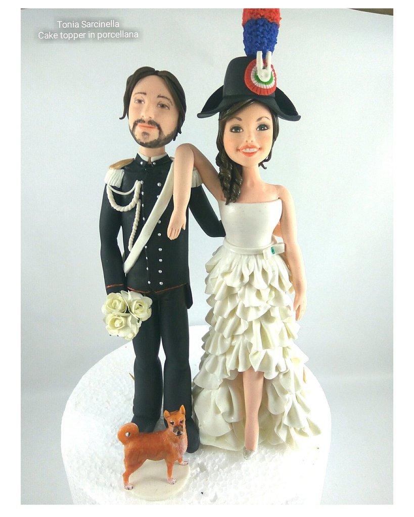 Cake topper Valentina e Giuseppe