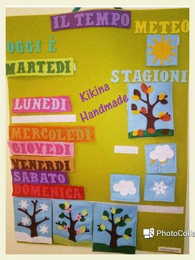 Calendario del Tempo, Stagioni, Giorni- Feltro
