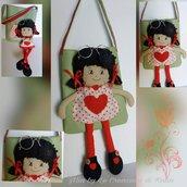 Borsetta bimba con bambola