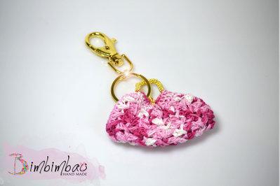 portachiavi chiave accessori donna festa della mamma uncinetto borsa borsetta oro moda