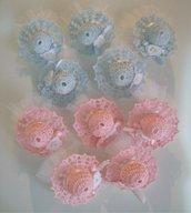 Cappellino bomboniera nascita-battesimo confettata