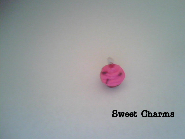 Charm Pink Frosted Cupcake