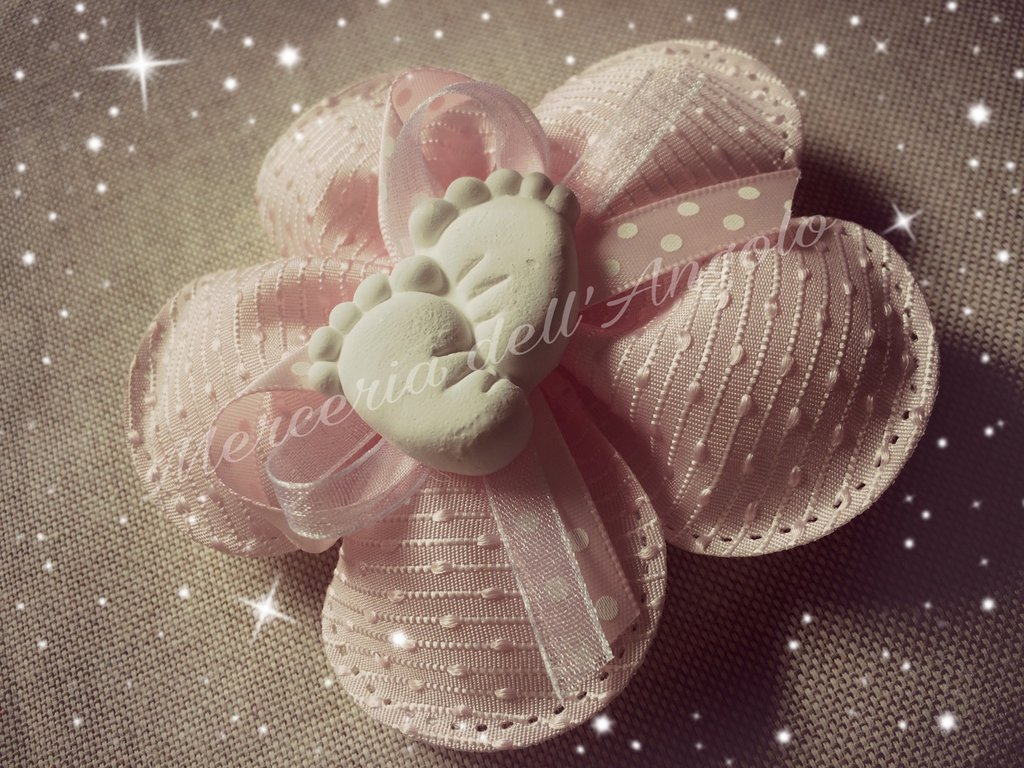 Fiore porta confetti nascita