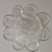 Fiore o rosetta, ricambio per specchi e per lampadari, in vetro soffiato di Murano, con chiodo per il fissaggio
