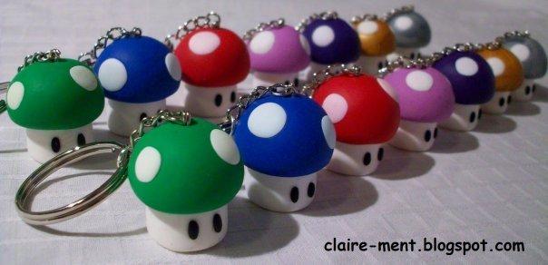 Portachiavi con Funghetto Super Mario