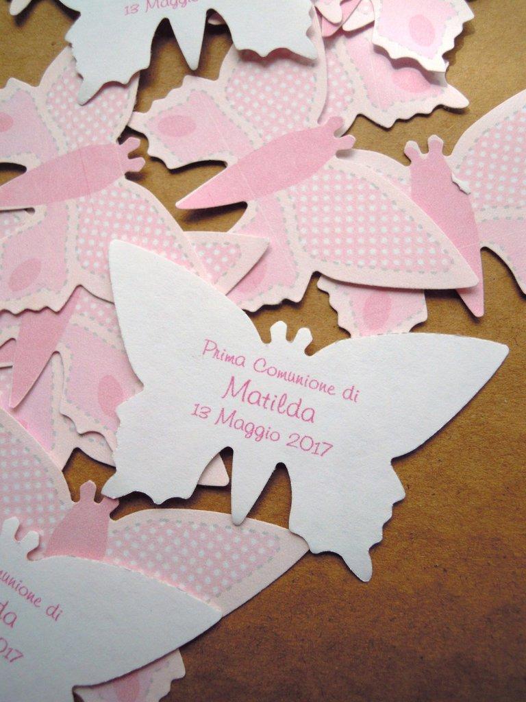 bigliettini / tags a farfalla