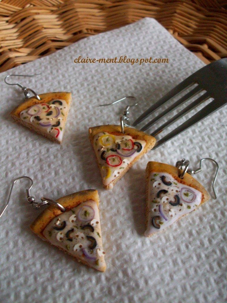 Orecchini con Spicchi di Pizza