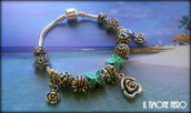 "Bracciale ""Green Flowers"""